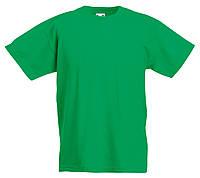 Детская Легкая Футболка Ярко-зелёная Fruit of the loom 61-019-47 9-11