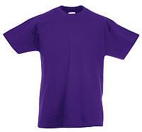 Детская Легкая Футболка Фиолетовая Fruit of the loom 61-019-PE 12-13