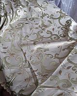 Шторная ткань оливковый завиток шириной 1,5 метра