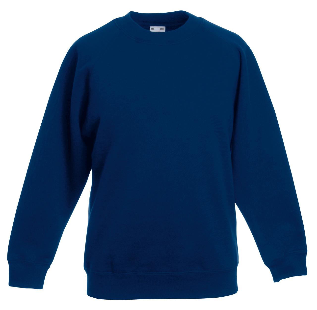 Детский классический реглан Тёмно-синий  Fruit Of The Loom 62-039-32 9-11