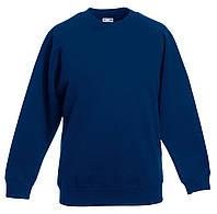 Детский классический реглан Тёмно-синий  Fruit Of The Loom 62-039-32 9-11, фото 1