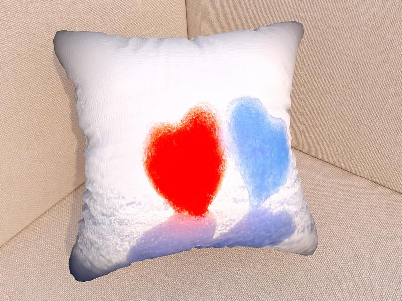 Фото подушка день Святого Валентина