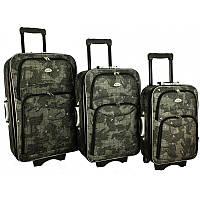 Комплект трех чемоданов RGL 773 узор Карта