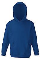 Детская классическая толстовка с капюшоном Тёмно-синяя Fruit Of The Loom 62-043-32 7-8