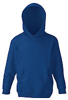 Детская классическая толстовка с капюшоном Тёмно-синяя Fruit Of The Loom 62-043-32 5-6