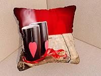 Фото подушка чашка с сердцем