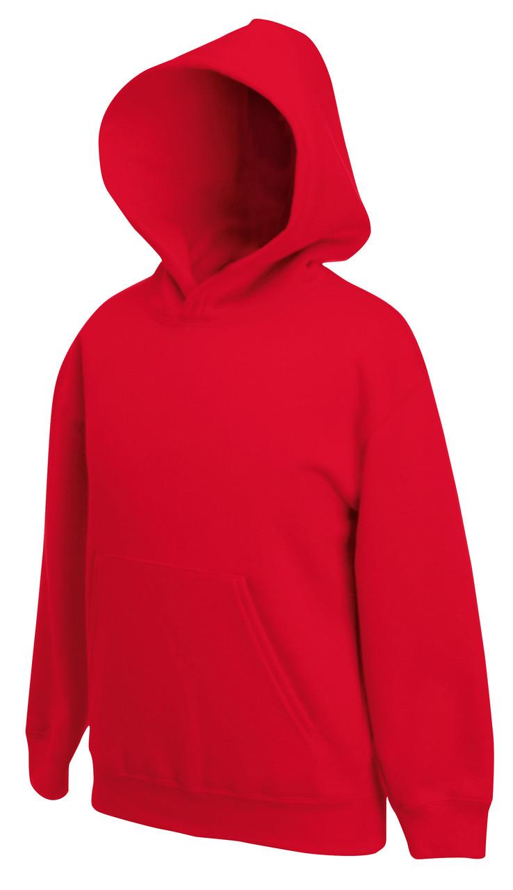 Детская классическая толстовка с капюшоном Красная Fruit Of The Loom 62-043-40 14-15