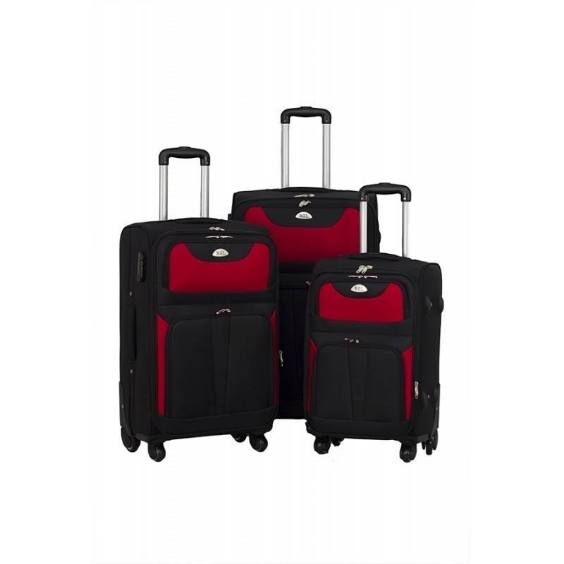 Комплект трех чемоданов RGL S010 Черно-красный