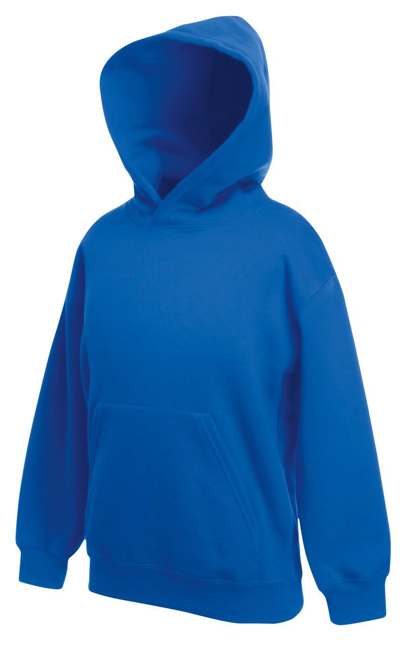 Детская классическая толстовка с капюшоном Ярко-синяя Fruit Of The Loom 62-043-51  14-15