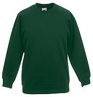 Детский классический реглан Тёмно-зелёный Fruit Of The Loom 62-039-38 9-11, фото 1