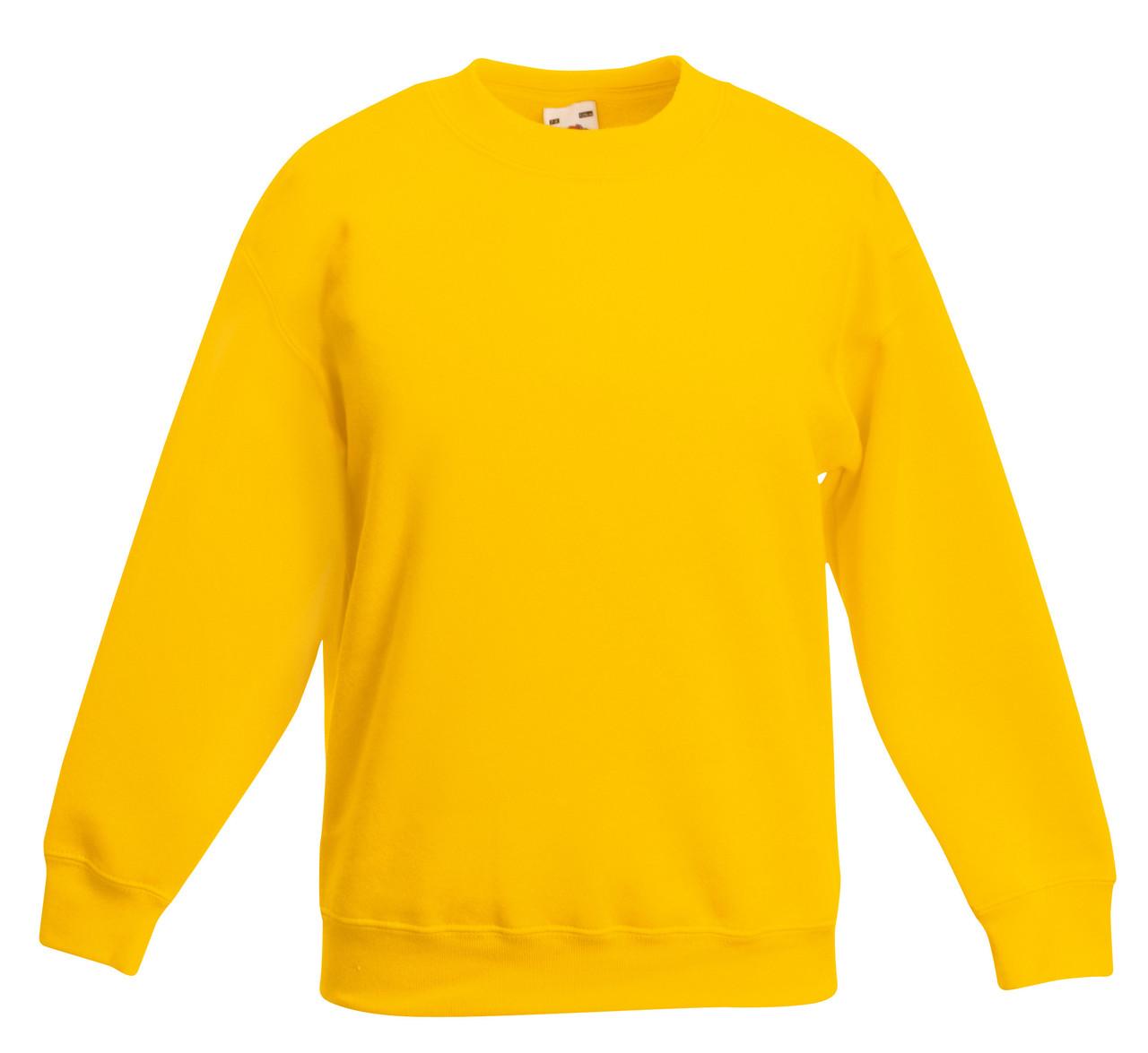 Детский классический свитер Солнечно-жёлтый Fruit Of The Loom  62-041-34 9-11