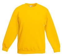 Детский классический свитер Солнечно-жёлтый Fruit Of The Loom  62-041-34 9-11, фото 1