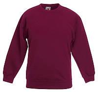 Детский классический свитер Бордовый Fruit Of The Loom  62-041-41 9-11, фото 1