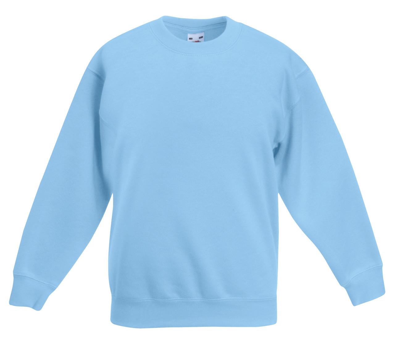 Детский классический свитер Небесно-голубой Fruit Of The Loom  62-041-YT 14-15