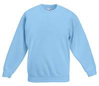 Детский классический свитер Небесно-голубой Fruit Of The Loom  62-041-YT 14-15, фото 1
