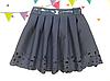 Шольная черная юбка для девочки Перфорация 2