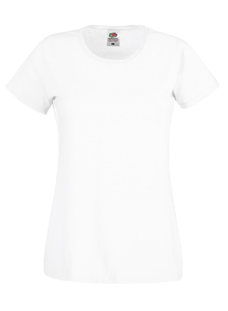 Женская футболка лёгкая Белая Fruit of the loom 61-420-30 S