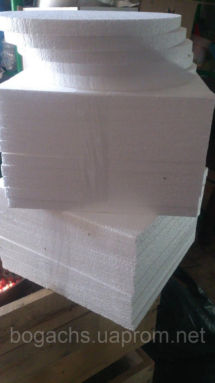 Подложка ◘ 35Х35 см 353502 (подставка, основа) из пенопласта под торт