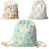 """Сумка-рюкзак для обуви Метр+ 4033 """"Фламинго"""" (39-33 см, микс видов)"""