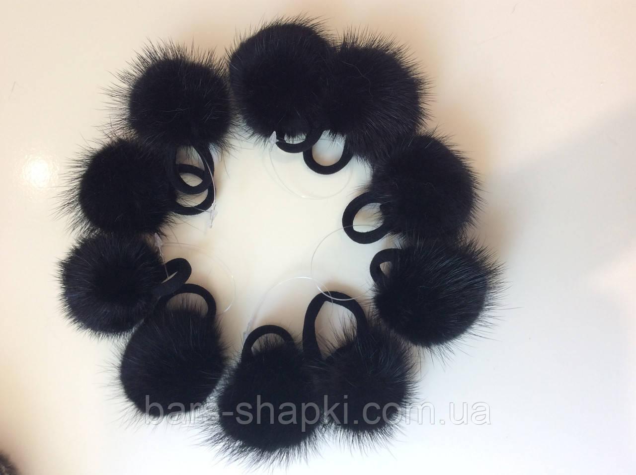 Меховые резиночки для волос за 10 шт