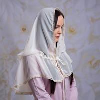 """Палантин """"Натюрель"""" для взрослых Шифон, накидка шарф в храм"""