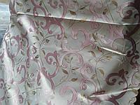 Шторная ткань розовый завиток шириной 1,5 метра