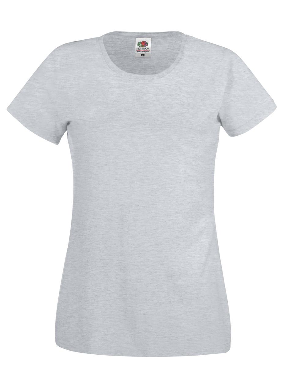 Женская футболка лёгкая Серо-лиловая Fruit of the loom 61-420-94 XXL