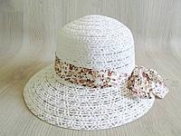 Модная женская соломенная пляжная летняя шляпа с лентой