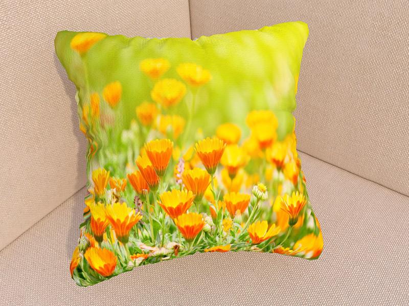 Фотоподушки поляна цветов