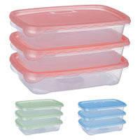 Набор контейнеров пластиковых для пищевых продуктов 3шт/наб 900мл PT_82316 (12шт)