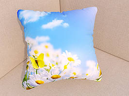 Фото подушки ромашки