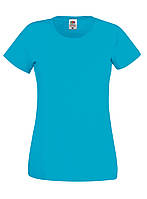 Женская футболка лёгкая Ультрамариновая Fruit of the loom 61-420-ZU S, фото 1