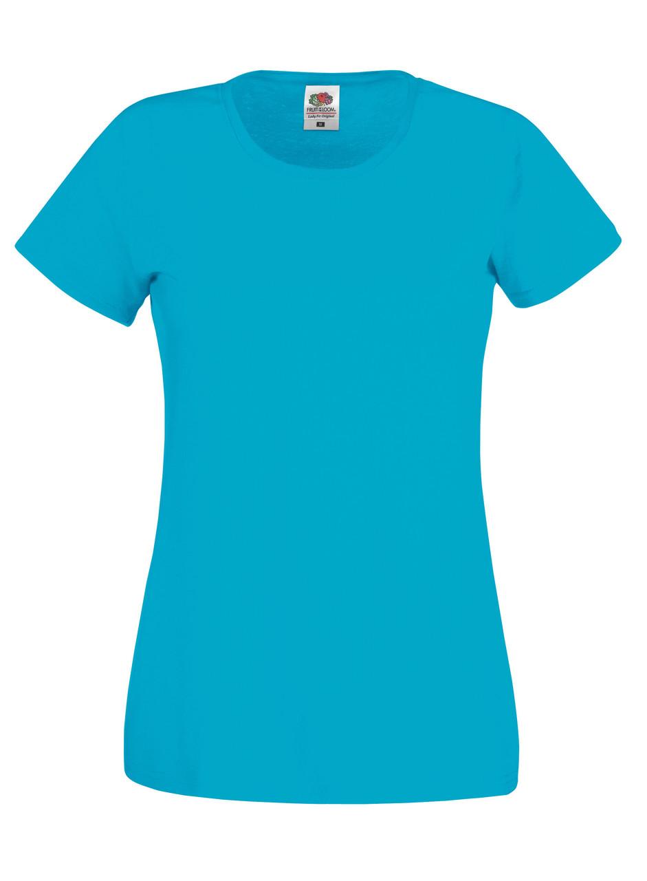 Женская футболка лёгкая Ультрамариновая Fruit of the loom 61-420-ZU S