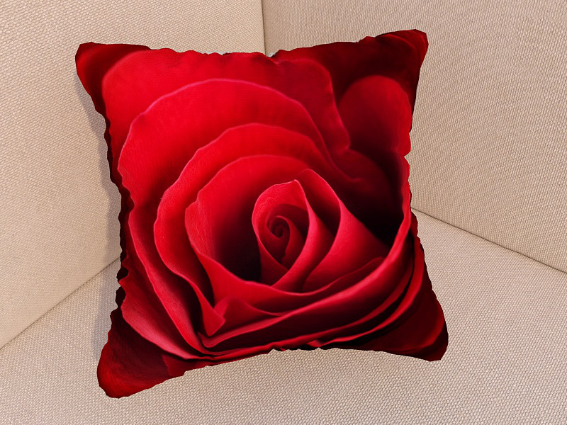 Фото подушка роза