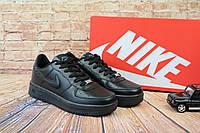 Мужские Черные кеды Nike AirForce 9153-2, фото 1