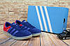 Мужские Кеды Adidas Hamburg Синий/Красный 9325-8
