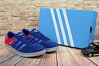 Мужские Кеды Adidas Hamburg Синий/Красный 9325-8, фото 1