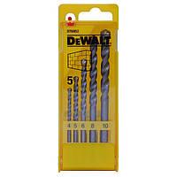 Набор сверл DeWALT по кирпичу, 5шт, d=4,5,6,8,10мм. (DT6952)