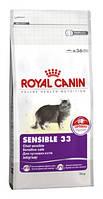 Royal Canin sensible сухой корм для кошек с чувствительным пищеварением - 2 кг