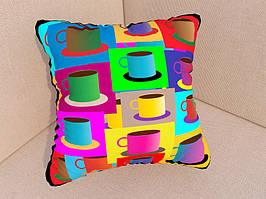 Фотоподушки разноцветные чашки