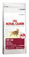 Royal Canin Fit сухой корм для кошек старше 1 года, с доступом на улицу - 400 г