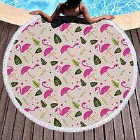 Пляжный коврик Летний Фламинго