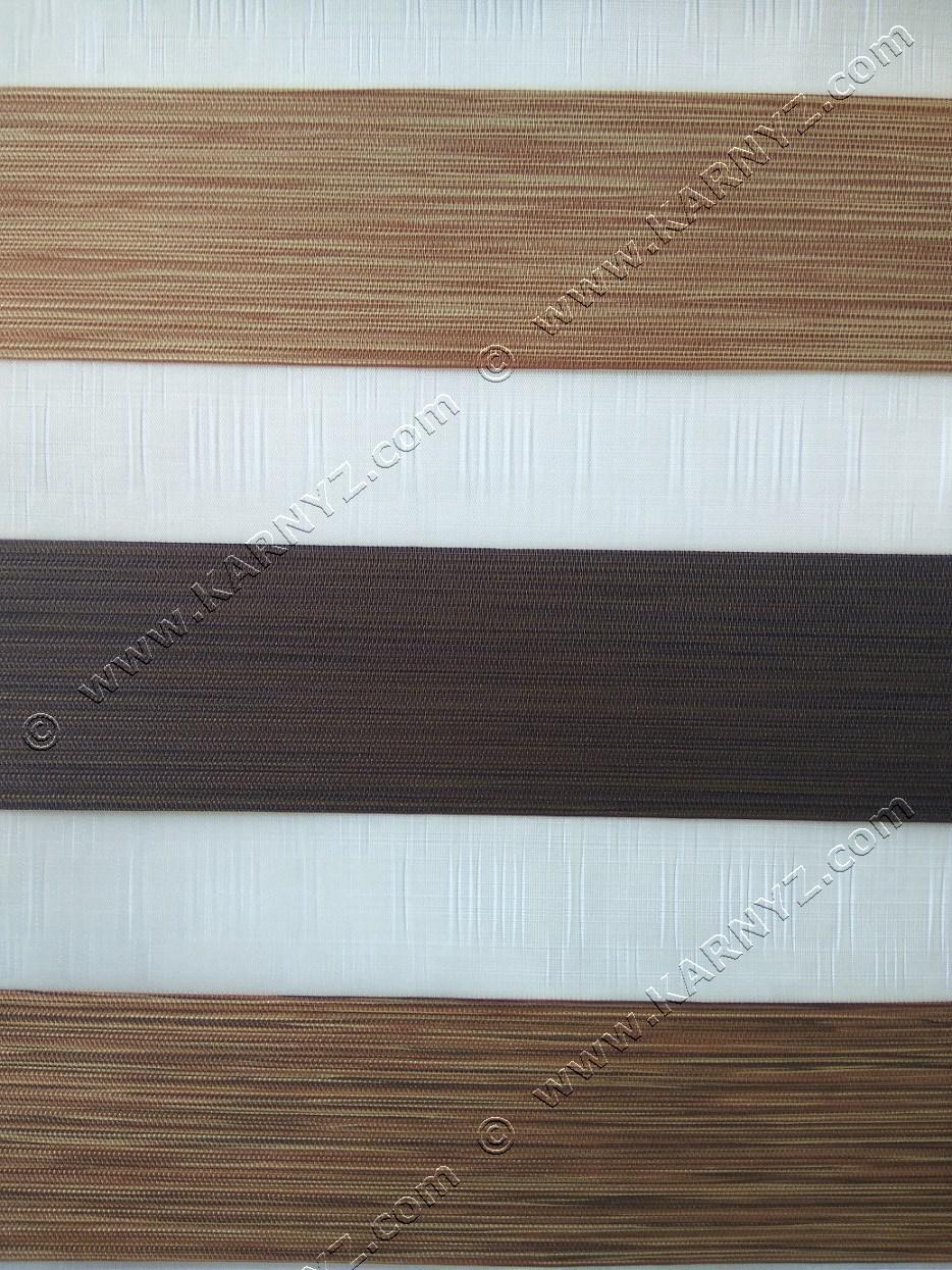 Рулонні штори День-Ніч Сонатин тріо C-263 коричневий/карамель/венге