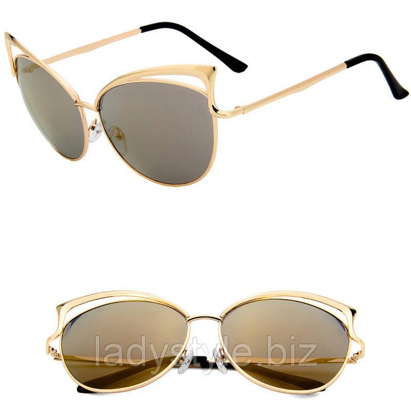 Очки солнцезащитные  золотистые от студии LadyStyle.Biz