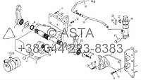 Вал и приводной механизм(с цилиндром) на YTO X904, фото 1