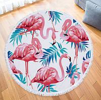 Пляжный коврик Четыре Фламинго