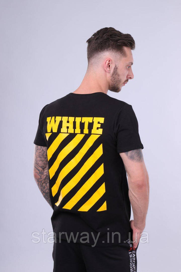Футболка чёрная Off White logo | Топ