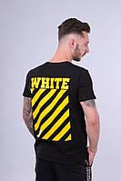 Футболка чёрная Off White logo | Топ, фото 1