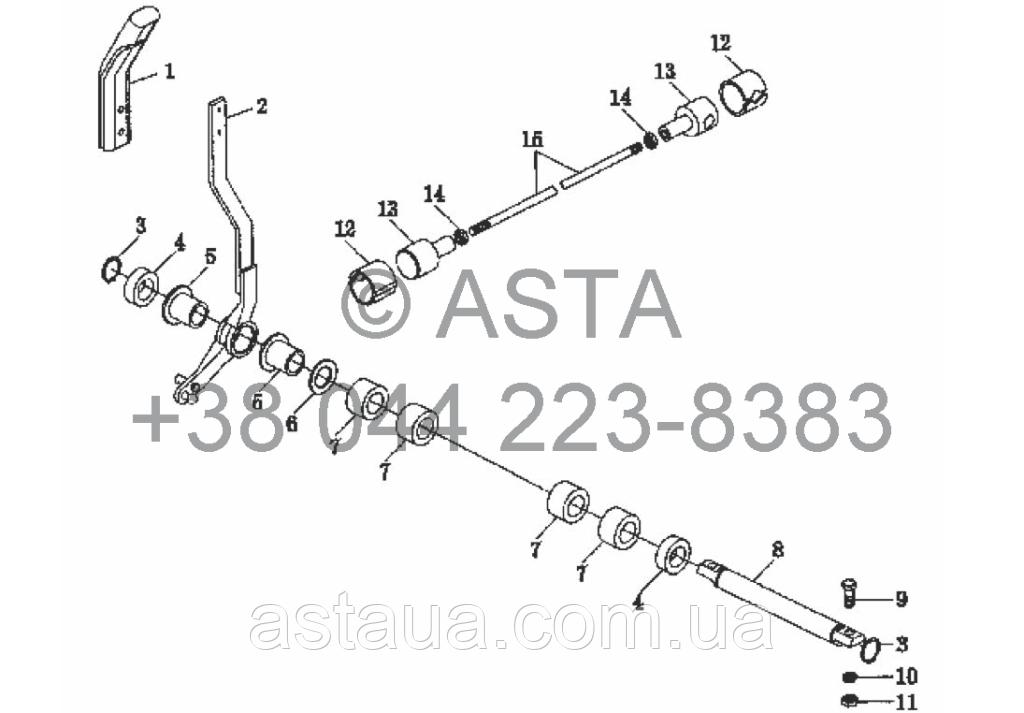 Механизм подъема на YTO X904