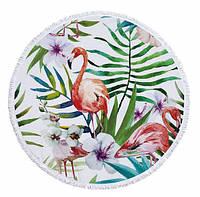 Пляжный коврик Фламинго в папоротнике